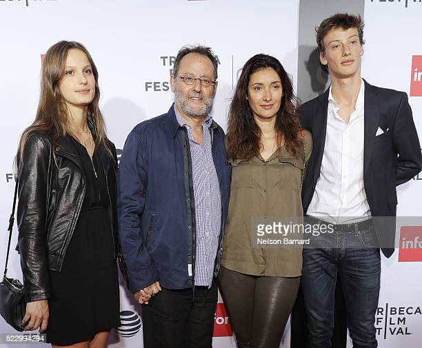 Actor Jean Reno and Zofia Borucka attend the Taxi Driver 40th Anniversary Celebration during the 2016 Tribeca Film Festival at The Beacon Theatre on...