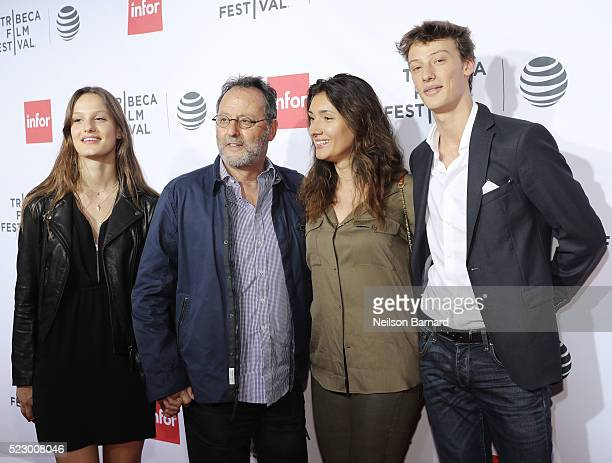 Actor Jean Reno and Zofia Borucka attend the 'Taxi Driver' 40th Anniversary Celebration during the 2016 Tribeca Film Festival at The Beacon Theatre...