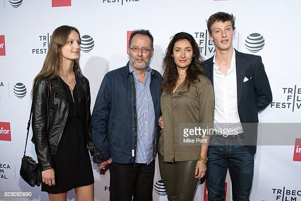 Actor Jean Reno and Zofia Borucka attend the 'Taxi Driver' 40th Anniversary Screening during the 2016 Tribeca Film Festival at Beacon Theatre on...