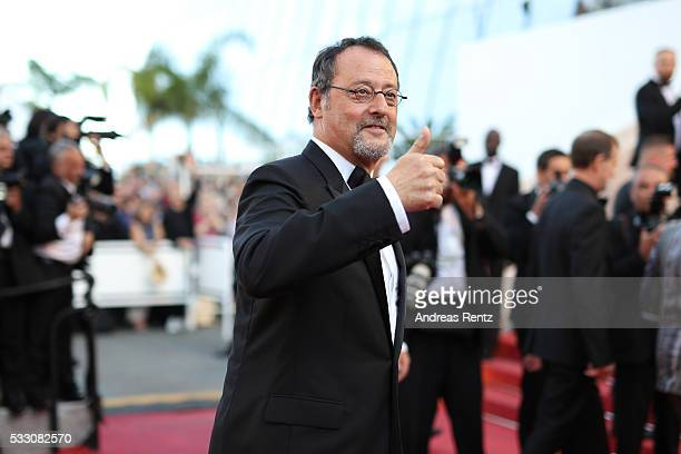 Actor Jean Reno attends The Last Face Premiere during the 69th annual Cannes Film Festival at the Palais des Festivals on May 20 2016 in Cannes France