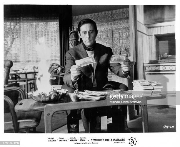 Actor Jean Rochefort in a scene from the French movie 'Symphony for a Massacre' circa 1963