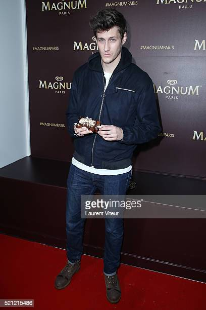 Actor JeanBaptiste Maunier attends the Magnum Paris Concept Store Opening on April 14 2016 in Paris France