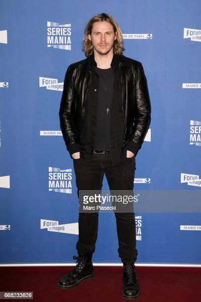 Actor JeanBaptiste Shelmerdine attends the 'Series Mania Festival' opening night at Le Grand Rex on April 13 2017 in Paris France