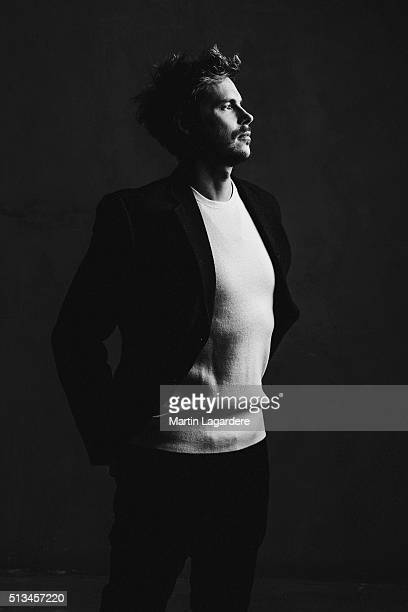 Actor Jean-Baptiste Shelmerdine is photographed for The Blind Magazine on January 28, 2016 in Paris, France.
