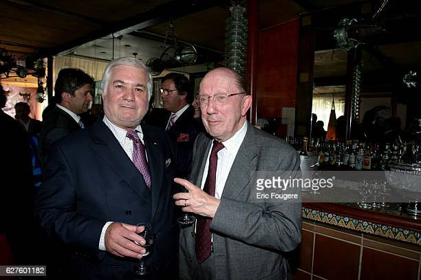 Actor JeanClaude Brialy and writer Jacques Duquesne attend the ceremony during which cooking specialist JeanLuc Petitrenaud became Chevalier de la...