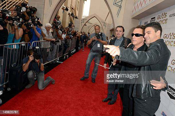 Actor JeanClaude Van Damme and his son Kristopher Van Varenberg arrive at Spike TV's 6th Annual Guys Choice Awards at Sony Pictures Studios on June 2...