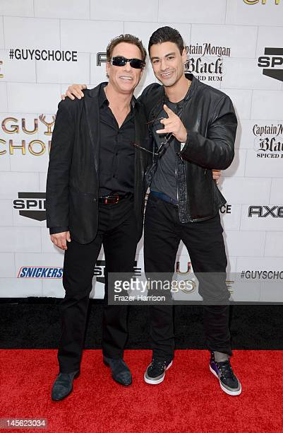 Actor JeanClaude Van Damme and his son Kristopher Van Varenberg arrive at Spike TV's 6th Annual 'Guys Choice Awards' at Sony Pictures Studios on June...