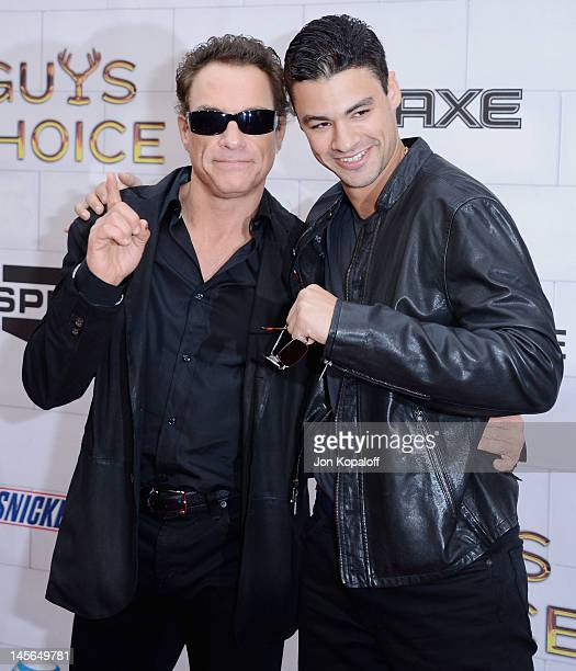 Actor JeanClaude Van Damme and son Kristopher Van Varenberg arrive at Spike TV's 6th Annual Guys Choice Awards at Sony Studios on June 2 2012 in Los...
