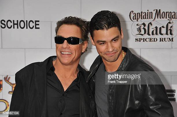 Actor JeanClaude Van Damme and son Kristopher Van Varenberg arrive at Spike TV's 6th Annual Guy's Choice Awards held at Sony Pictures Studios in...