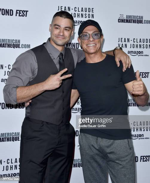 Actor JeanClaude Van Damme and son Kristopher Van Varenberg arrive at the Beyond Fest screening of Amazon's 'JeanClaude Van Johnson' at The Egyptian...