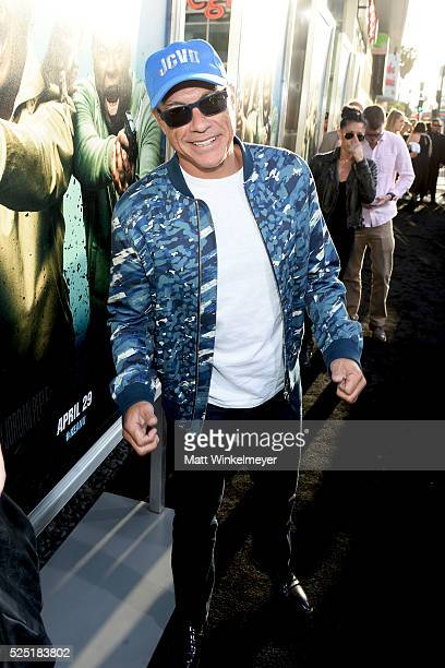 Actor JeanClaude Van Damme attends a special presentation of Warner Bros' 'Keanu' at ArcLight Cinemas Cinerama Dome on April 27 2016 in Hollywood...