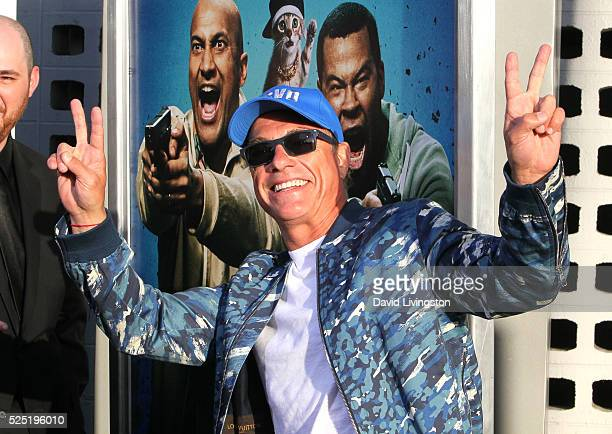 """Actor Jean-Claude Van Damme attends a special presentation of Warner Bros.' """"Keanu"""" at ArcLight Cinemas Cinerama Dome on April 27, 2016 in Hollywood,..."""