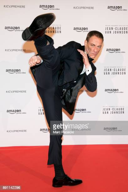 Actor JeanClaude Van Damme attends the Amazon TV series 'Jean Claude Van Johnson' Premiere at Le Grand Rex on December 12 2017 in Paris France