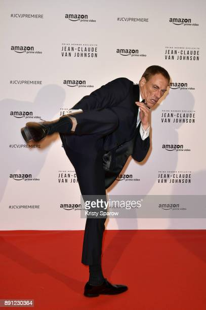 Actor JeanClaude Van Damme attends the Amazon TV series 'Jean Claude Van Johnson' Premiere at Le Grand Rex on December 12 2017 in Paris France at Le...