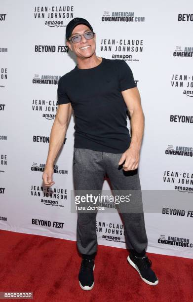 Actor JeanClaude Van Damme attends the Beyond Fest screening of Amazon Prime Video's exclusive series 'JeanClaude Van Johnson' at The Egyptian...