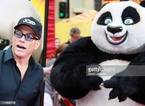 Actor JeanClaude Van Damme attends the premiere of DreamWorks Animation's 'Kung Fu Panda 2' at Mann's Chinese Theatre on May 22 2011 in Hollywood...