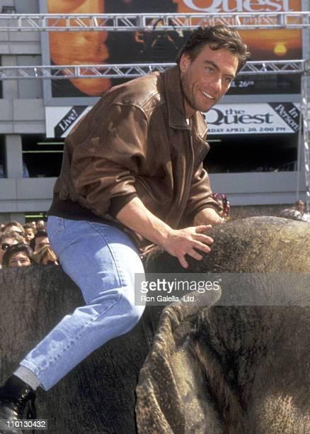 "Actor Jean-Claude Van Damme attends ""The Quest"" Universal City Premiere on April 20, 1996 at Cineplex Odeon Universal City Cinemas in Universal City,..."