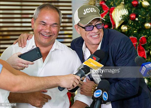 COAST QLD Actor JeanClaude Van Damme meets with Gold Coast Mayor Tom Tate on the Gold Coast Queensland