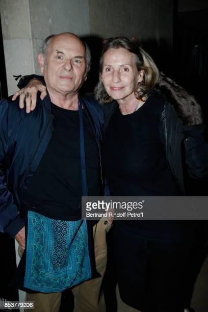 Actor JeanFrancois Stevenin and his wife Claire attend the Un beau soleil interieur Paris Premiere at La Cinematheque on September 25 2017 in Paris...