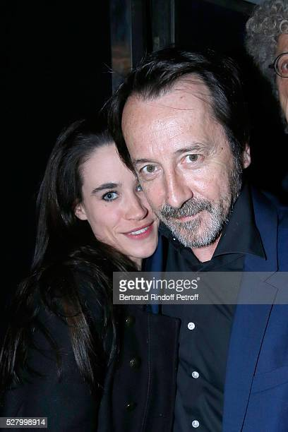Actor JeanHugues Anglade and his wife Charlotte attend the L'origine de la violence Paris Premiere Held at Cinema Le Balzac on May 03 2016 in Paris