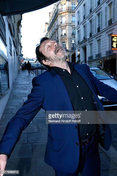 Actor JeanHugues Anglade attends the L'origine de la violence Paris Premiere Held at Cinema Le Balzac on May 03 2016 in Paris