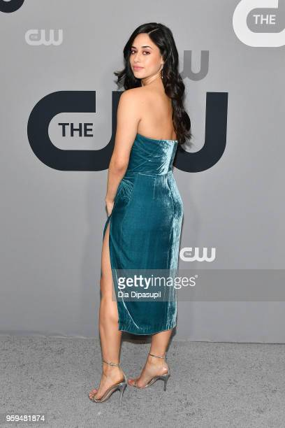 Actor Jeanine Mason attends the 2018 CW Network Upfront at The London Hotel on May 17 2018 in New York City
