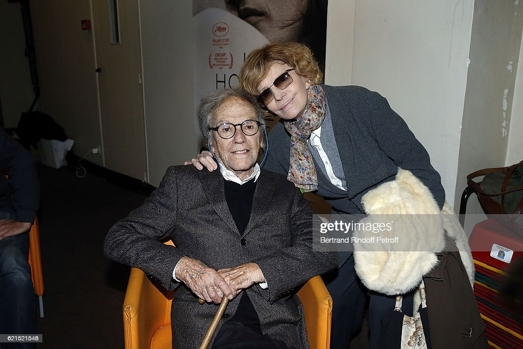 Actor Jean-Louis Trintignant and Director Nadine Trintignant attend 'Un Homme et Une Femme' screening for its 5Oth Anniversary at l'Arlequin on November 6, 2016 in Paris, France.