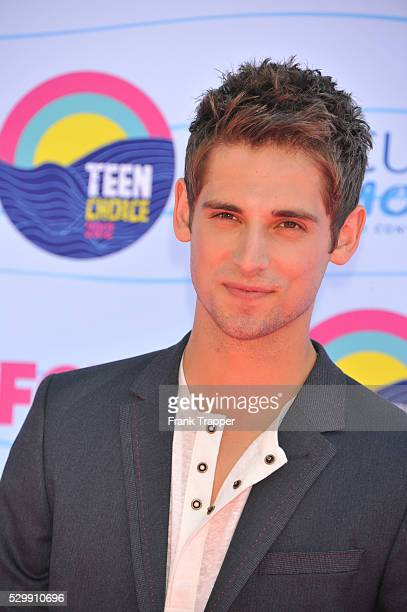 Actor JeanLuc Bilodeau arrives at the 2012 Teen Choice Awards held at the Gibson Amphitheatre in Universal City California