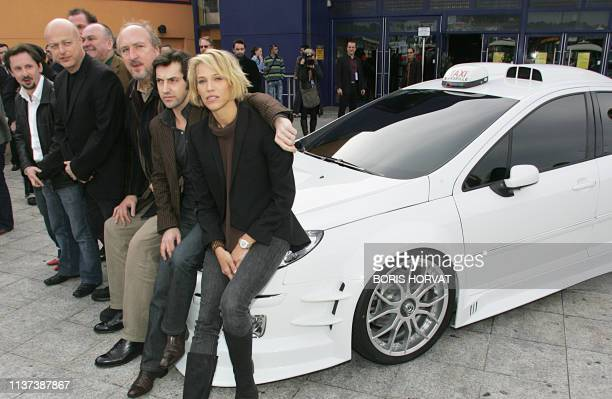Actor JeanLuc Couchard director Gerard Krawczyk and actors JeanChristophe Bouvet Bernard Farcy Frederic Diefenthal Emma Sjoberg pose 09 February 2007...