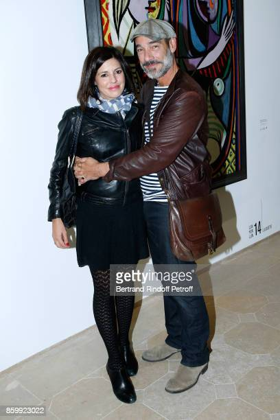 Actor JeanMarc Barr and his companion director Stella di Tocco attend the Picasso 1932 Exhibition Opening at Musee national PicassoParis on October...
