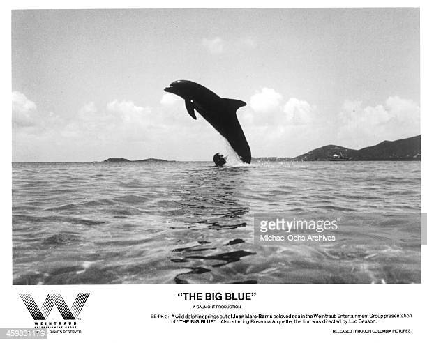 Actor JeanMarc Barr on set of the movie The Big Blue circa 1988
