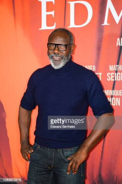 Actor JeanMichel Martial during the 'Edmond' Paris Premiere photocall at Cinema Pathe Beaugrenelle on December 17 2018 in Paris France
