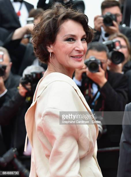 Actor Jeanne Balibar attends the 'Loveless ' premiere during the 70th annual Cannes Film Festival at Palais des Festivals on May 18 2017 in Cannes...