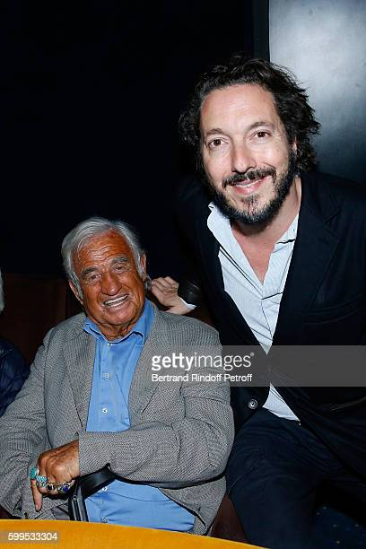 Actor JeanPaul Belmondo and actor of the movie Guillaume Gallienne attend the 'Cezanne et Moi' Premiere on September 5 2016 in Paris France