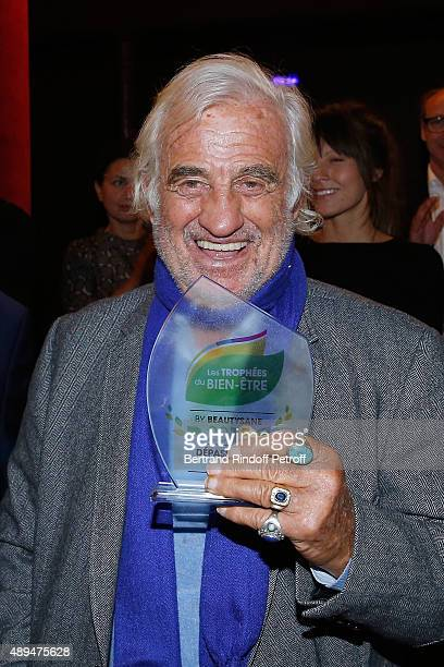 Actor JeanPaul Belmondo and his Award attends the 'Trophees du BienEtre' by Beautysane First Award Ceremony to Benefit 'Mimi Ullens Foundation' Held...