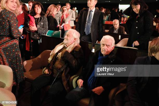 Actor JeanPaul Belmondo and his brother Producer Alain Belmondo attend The Gazelles directed by Paul Belmondo Paris Premiere at UNESCO on November 24...