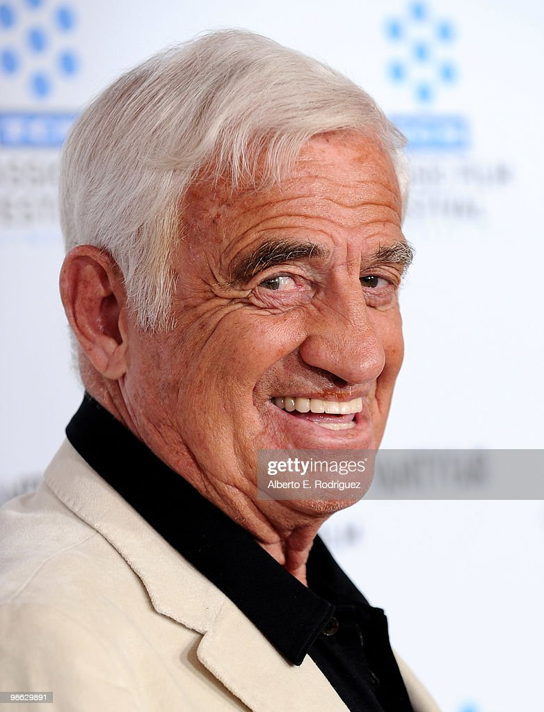 Actor Jean-Paul Belmondo arrives at the TCM Classic Film Festival's gala opening night world premiere of the newly restored film 'A Star Is Born' at Grauman's Chinese Theatre on April 22, 2010 in Hollywood, California.