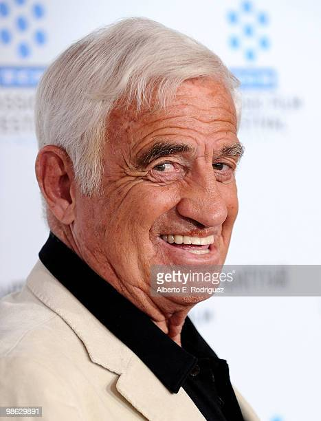 Actor JeanPaul Belmondo arrives at the TCM Classic Film Festival's gala opening night world premiere of the newly restored film A Star Is Born at...
