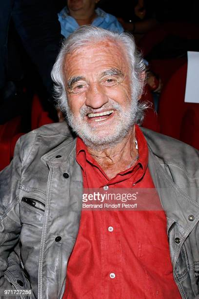 Actor JeanPaul Belmondo attends L'Entree des Artistes Theater School by Olivier Belmondo at Theatre Des Mathurins on June 11 2018 in Paris France