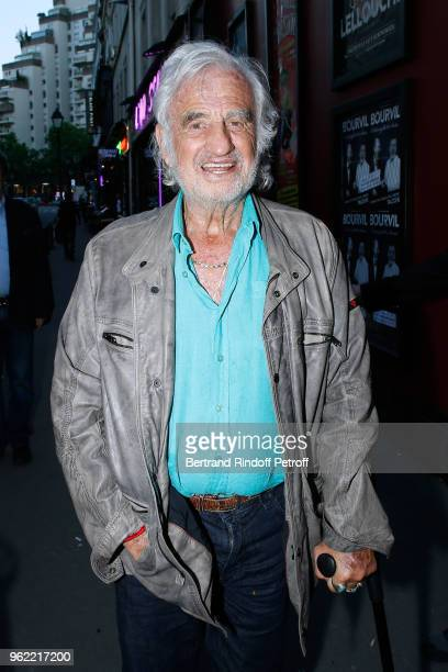 Actor JeanPaul Belmondo attends the La tete dans les etoiles Theater play at Theatre de la Gaite Montparnasse on May 24 2018 in Paris France