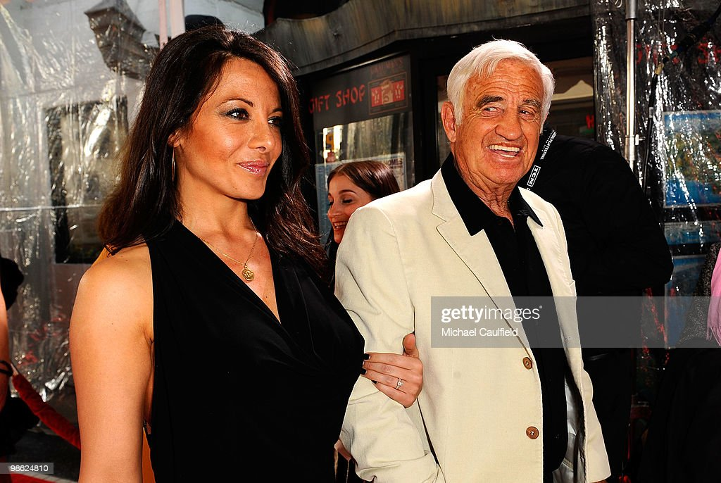 Actor Jean-Paul Belmondo (R) attends the Opening Night Gala of the newly restored 'A Star Is Born' premiere at Grauman's Chinese Theatre on April 22, 2010 in Hollywood, California.