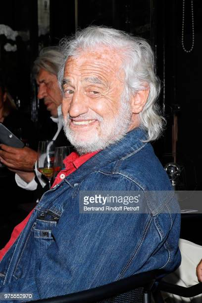 Actor JeanPaul Belmondo attends the Street Art butterflies by his daughter Charlotte Joly Exhibition Preview at Veramente on June 15 2018 in Paris...