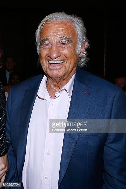 Actor JeanPaul Belmondo attends the 'Trophees du Bien Etre' by Beautysane 2nd Award Ceremony at Theatre Montparnasse on September 26 2016 in Paris...