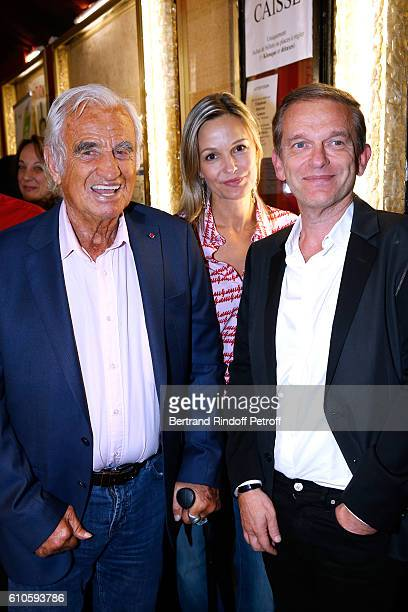 Actor JeanPaul Belmondo Doctor Frederic Saldmann and his wife Marie attend the 'Trophees du Bien Etre' by Beautysane 2nd Award Ceremony at Theatre...