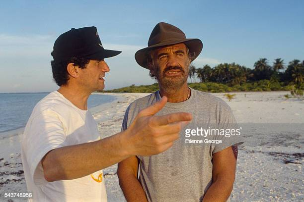 Actor JeanPaul Belmondo on the set of 'Itineraire d'un enfant gate' with director Claude Lelouch Belmondo won the 1989 Cesar award for Best Actor for...