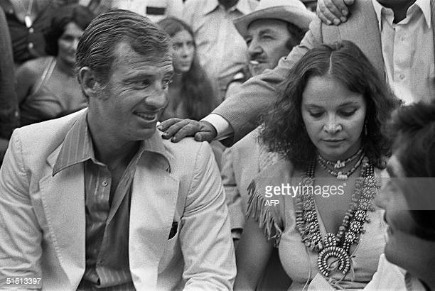 Actor JeanPaul Belmondo one of France's biggest screen stars and a symbol of 1960s New Wave cinema and Italian actress Laura Antonelli particiapte 26...