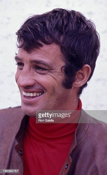 Actor JeanPaul Belmondo sighted on location filming The Brain on August 28 1968 in Paris France
