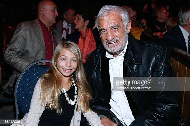 Actor JeanPaul Belmondo with his daughter Stella Belmondo attend 'Silvia' show from 'Cirque Alexis Gruss' Premiere Porte de Passy in Paris on October...