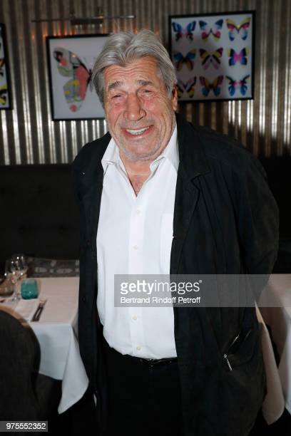 Actor JeanPierre Castaldi attends the 'Street Art butterflies' by Charlotte Joly Exhibition Preview at Veramente on June 15 2018 in Paris France