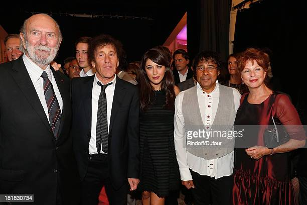 Actor JeanPierre Marielle Alain Souchon Nolwenn Leroy Laurent Vouzly and Agathe Natanson attend the 'IFRAD' Gala at Cirque D'Hiver In Paris on...